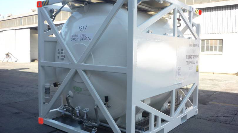Rental services of 10 ft cryogenic ISO tank containers