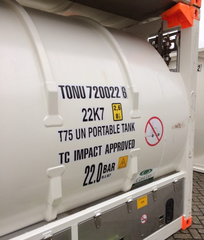 Bofort rental and leasing services of CO² ISO Tank Rental